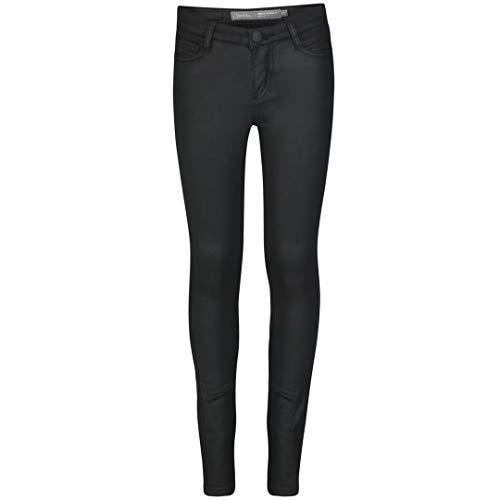 Geisha meisjes jeans leerlook zwart 81518K