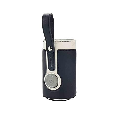 A/F Calienta Biberones Portatil, Calienta Biberones para Viajes En Coche,termostato De Aislamiento para Biberones, para Alimentación, Leche, Comida, Bolsa Térmica con 2 Cables USB para Exteriores