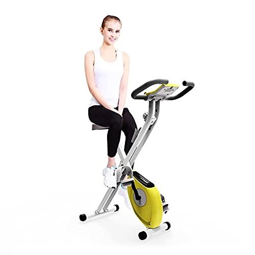 Monitor LCD Bicicleta de Ciclismo Bicicleta de EreccióN MagnéTica Plegable Bicicleta EstáTica, Mujeres PéRdida de Peso en El Hogar Entrenamiento Muscular de Piernas Gimnasio Interior