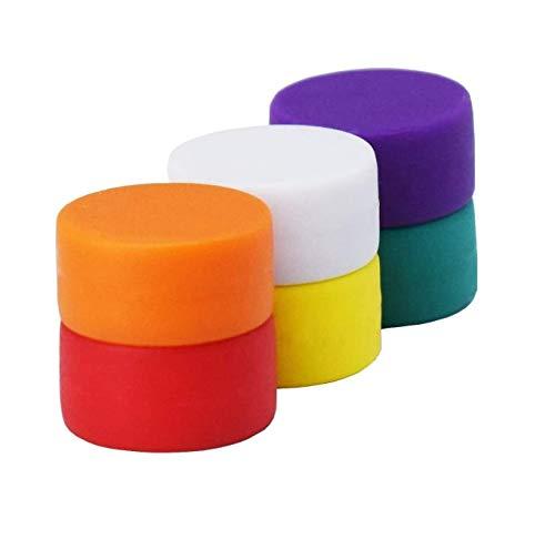 Magnetpro Imanes de neodimio impermeable y antioxidante con capa protectora, Diámetro 13 mm 6 colores, Súper imanes especialmente adecuados para pizarras magnéticas de vidrio