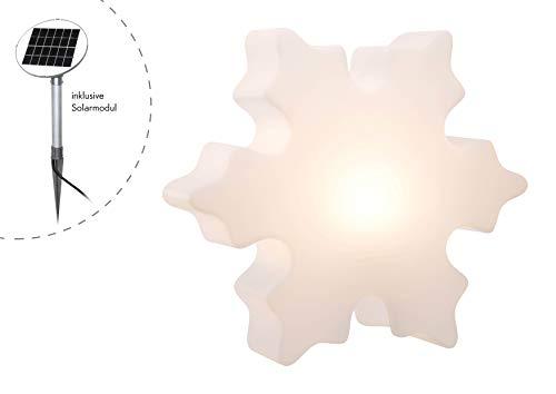 8Seasons 32436s Lampe d'extérieur, intégré, blanc, H 60 cm