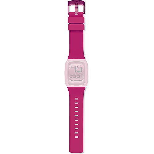 Correa para reloj de pulsera Digital Touch original de Swatch, 'Swatch Touch Pink', color rosa (ASURP100)