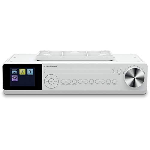 Grundig DKR2000BT DAB + CD Küchenradio mit Bluetooth, DAB + Empfang und CD-Player Weiß