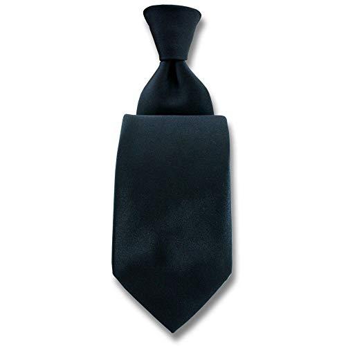 Robert Charles - Cravate Satin Noir Fines : 7.5cm
