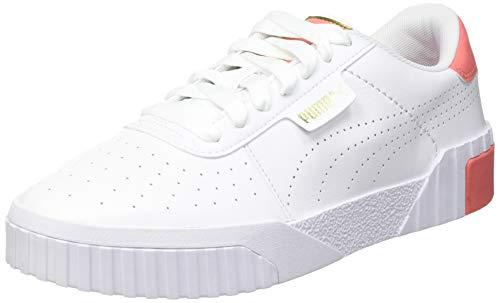 PUMA Cali Perf Wn S, Zapatillas Mujer, Blanco White Georgia Peach Team Gold, 36 EU
