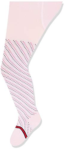 Tommy Hilfiger Unisex-Baby TH Tights 1P SMALL Dotted Stripe Socks, pink combo, 74/80
