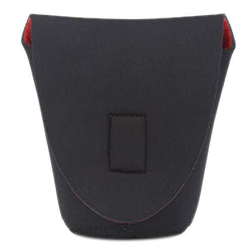CVBN Lente de cámara DSLR de Neopreno Estuche Protector Suave Estuche Estuche Bolsa Acolchada, Negro y Rojo, L