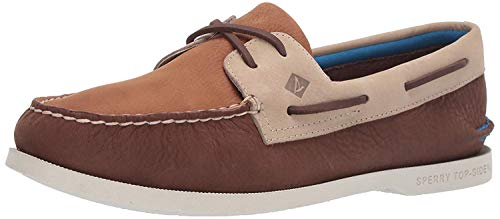 Sperry Mens Authentic Original 2-Eye Plush Casual Casual Shoes Shoes, Brown, 11