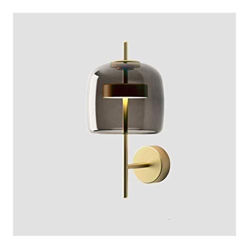 W. Lámpara de Pared, Simple y Creativo Estudio Caliente Habitación Sala de Noche de Colores Caliente de la lámpara Pared de la cabecera [Clase de energía A ++] (Color : A, Size : Warm Light)