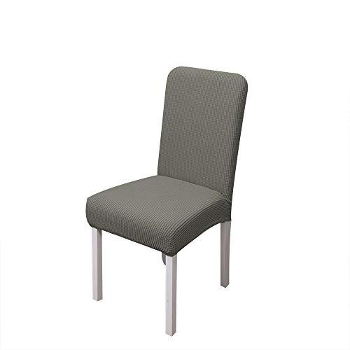 4 fundas de silla de forro polar grueso para todo incluido, de color sólido, de una pieza, suave y cómoda, para hotel, casa, oficina, oficina, silla, 4 unidades