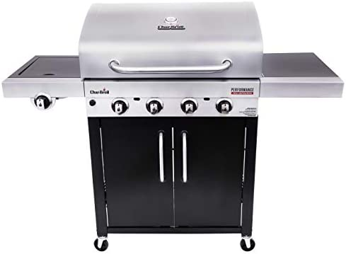 Char Broil 463280419 Performance TRU Infrared 4 Burner Cabinet Style Gas Grill Stainless Black product image