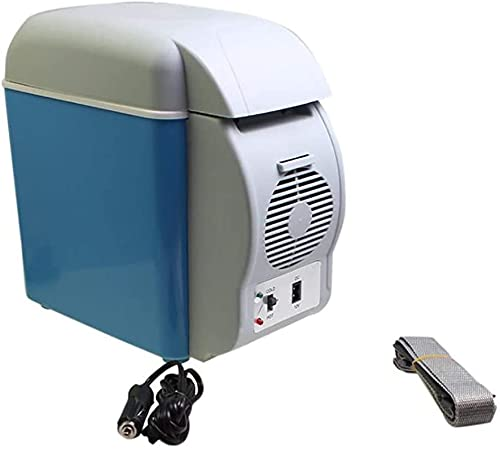 TANKKWEQ 7.5L Mini Mini FRÍO Y Caliente Caliente Tor DC12V Portátil Portable Tor Mini Frigorífico Congelador para Conducir, Viajar, Pesca, Al Aire Libre