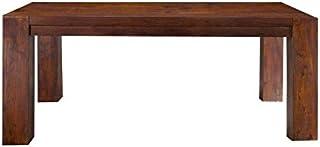 Table à manger 220x100cm - Bois massif d'acacia laqué (Nougat) - OXFORD #617