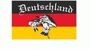 Deutschland Fussballfahne Geier conv6 Fahne Flagge Grösse 1,50 x 0,90m