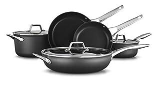 Calphalon Premier Hard-Anodized Nonstick 8-Piece Cookware Set, Black (B07MSWM1ST) | Amazon price tracker / tracking, Amazon price history charts, Amazon price watches, Amazon price drop alerts