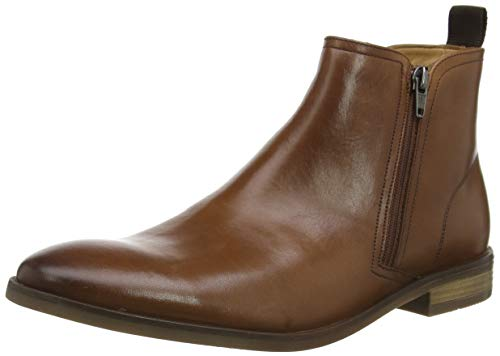 Clarks Herren Stanford Zip Chelsea Boots, Braun (Tan Leather), 43 EU