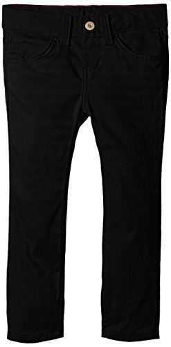 Dickies Big Girls' 5-Pocket Stretch Twill Pant, Black, 10