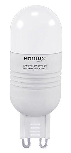 3W LED A+ MARILUX 170 Lumen BIRNE SPOT STRAHLER G9 LAMPE 2700K LEUCHTMITTEL WARMWEISS 3 W