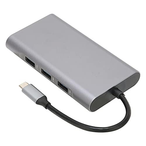 Concentrador de Acoplamiento Base de Expansión 10 en 1, Interfaz Multimedia de Tipo C a Alta Definición USB...