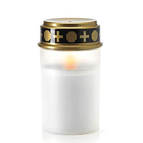mysticall Velas sin Llama LED Lámpara de Vela Solar, IP65 Blanco cálido Parpadeo LED Linternas Velas de Interior al Aire Libre Luz para Cementerio Ritual Oración de Sacrificio