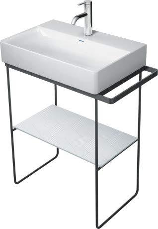 Duravit DuraSquare Metallkonsole 66,5x45,1cm, für Waschtisch 235660, Handtuchhalter, bodenstehend, Farbe: Schwarz Matt