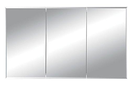 """Jensen 255048X Tri-View Bevel Mirror Medicine Cabinet, 48"""" x 28.25"""""""