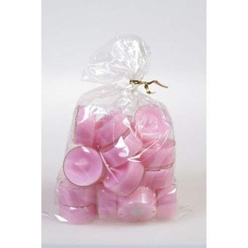 20 original Dänische Teelichter ohne Duft im Acryl-Cup farbig durchgefärbt rosa
