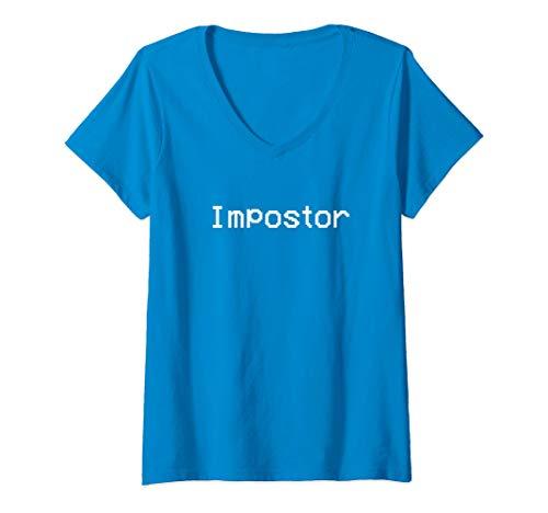 Mujer Among Impostor Us - Blue Is Sus Camiseta Cuello V