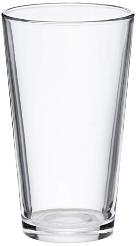 AmazonBasics Pint Pub Beer Glasses, 16-Ounce, Set of 6