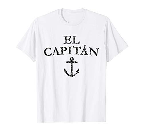 El Capitan Anker (Vintage Schwarz) Kapitän Boot & Segel T-Shirt