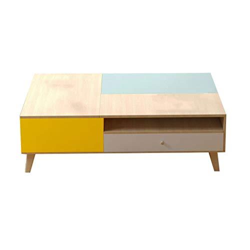 LSX-salontafel Koffietafel moderne minimalistische salontafel TV kast combinatie muur set klein appartement mini woonkamer Scandinavische multifunctionele tillen salontafel bijzettafel