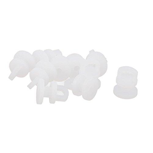 Roulettes pour rail de rideaux en plastique pour porte coulissante 10pcs Blanc