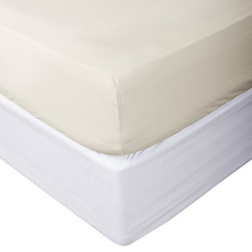 Top Selling on Amazon Queen Size { 1-PC } Fitted/Bottom Sheet Luxury Soft 1200-TC Heavy Egyptian Cotton Fitted Sheet Queen (60x80) Fits 21-23 Inches Fully Elastic Deep Pocket (Solid, Ivory)