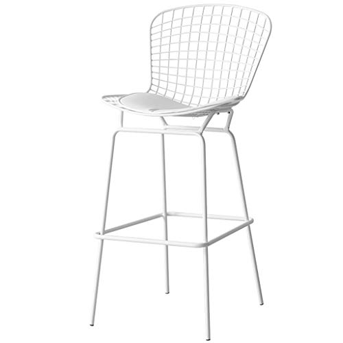 Pub Bistro Küche Dining Side Chair Indoor Outdoor Barhocker High Back Dining Chair Barhocker Weiß (Sitzhöhe 83 cm)