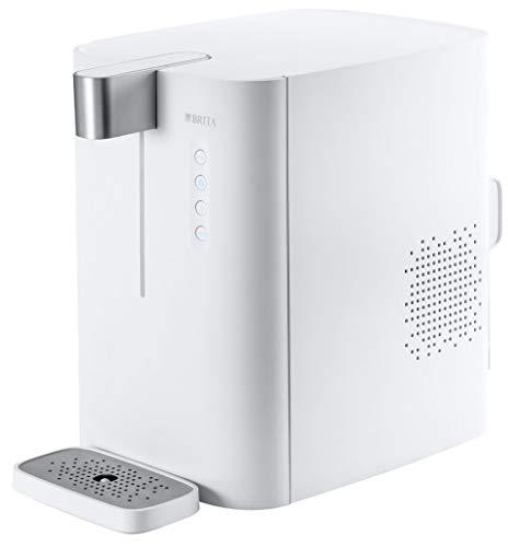 BRITA Wassersprudler yource pro top - Elektronisch mit CO2 Zylinder - Mit Filter, Kühlung für Lieblingswasser vom Wasseranschluss - Weiß