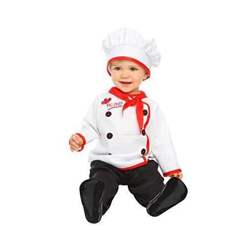 My Other Me Me-204969 Disfraz de bebé cocinero, 7-12 meses (Viving Costumes 204969)