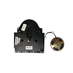 Kieninger QPA32 / Howard Miller 354476 Replacement Grandfather Floor Clock Movement by QWIRLY - Compatible with Hermle 2214, 2215W and 2215 Battery, Quartz, 2 Chime