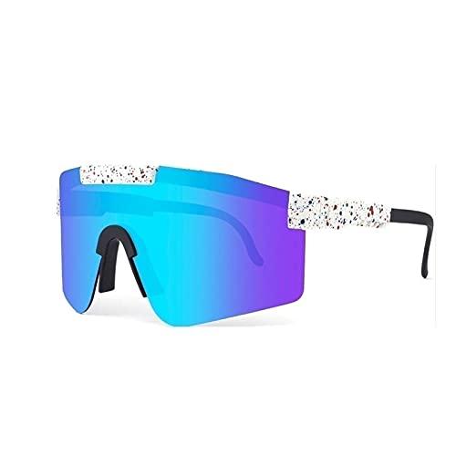 ZXQ Gafas De Sol Polarizadas UV400 A Prueba De Viento, Gafas De Ciclismo Al Aire Libre Pit-Vipers, Gafas De Sol Ajustables para Hombres Y Mujeres (Color : C8, Tamaño : 5.4in x4.4in x2.3in)