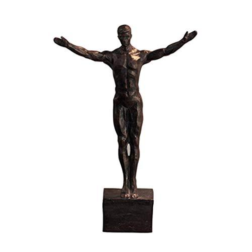 TGUS Estatua colgante de hombre de escalada en roca, escalador con una mano, color bronce para colgar en la pared, estatua de decoración del hogar (negro, tamaño: tipo F)