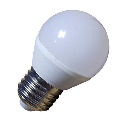 Pack 5x Bombilla LED G45 7w. Color Blanco Neutro (4500K). 680 lumenes, rosca E27 (rosca gorda). A++