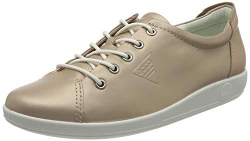 ECCO Soft 2.0, Zapatos de Cordones Derby Mujer, Dorado (Champagne Metallic 51408), 39 EU