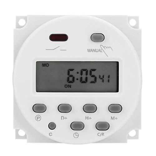 Interruptor de tiempo digital - DC 12v LCD Interruptor de tiempo digital CN101A Interruptor de tiempo Control de microordenador Interruptor de temporizador de energía 220v-240/50-60hz para cajas de lu