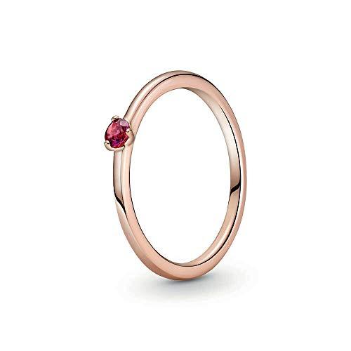 Pandora Anillo 'rojo' chapado en oro rosa 189259C01