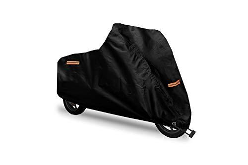 Telo Coprimoto Resistente ad Acqua, Polvere, Pioggia, Vento Escrementi di Uccelli, Tessuto 210D Oxford + Silver Antifurto Poliestere per Moto 104' Motocicletta Scooter Custom - 265 * 105 * 125cm (XXL)
