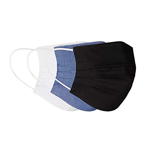 CAITOU 3 Stück Ewachsene Mundschutz Motiv Waschbar Wiederverwendbar Baumwolle Mund und Nasen Schutz und Nasenschutz Halstuch Atmungsaktive Staubdicht Multifunktional Gesichtsschutzschild