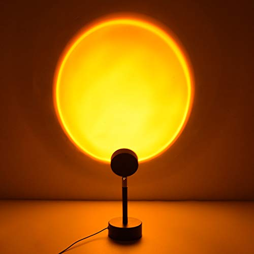 Para sala de estar, dormitorio, proyector romántico, regalo para boda, fiesta de cumpleaños, lámpara de proyección al atardecer, luz LED de proyección de arco iris girada de 180 grados, proyector de