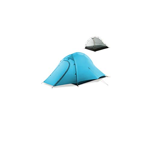 ZYM Frame Tents Instant Tent 2 Person Easy Set Up Double Layer Waterproof 3 Season Camping Tent for Outdoor Hiking Fishing Dome Tents (Color : Blue)