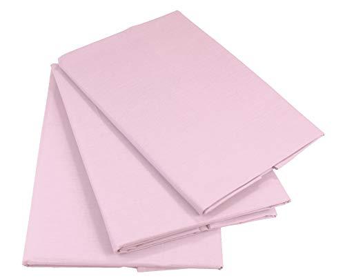KMP know how in modern printing Bettlaken Betttuch Haustuch 100% Baumwolle ohne Gummizug viele Uni Farben (160 x 200 cm, Rosa)