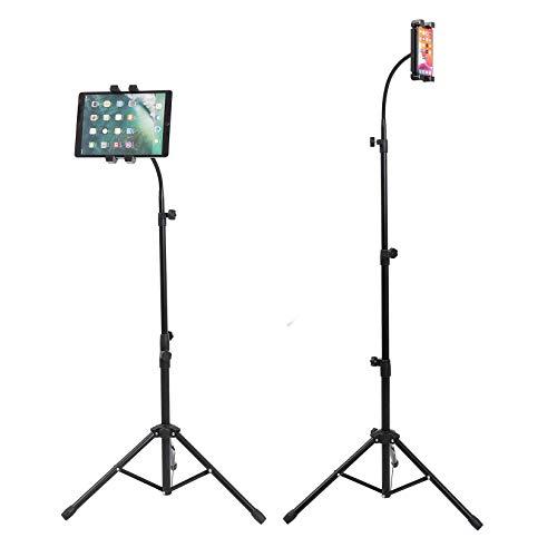 unho Soporte Tablet de Pie, Soporte Trípode Portátil para 4.7-12.9 Pulgadas de Tabletas Soporte para Tableta y Móvil de Altura Ajustable de 86-149cm y de Rotación de 360 Grados