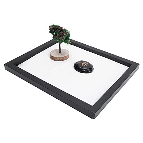 BOLORAMO Kit Giardino Zen Giapponese, Giardino di Sabbia Giapponese Pratica consapevolezza per Accessori da Tavolo da Ufficio per la Decorazione del Tavolo